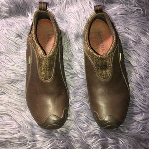 Merrell polortec brown loafers size 8.5